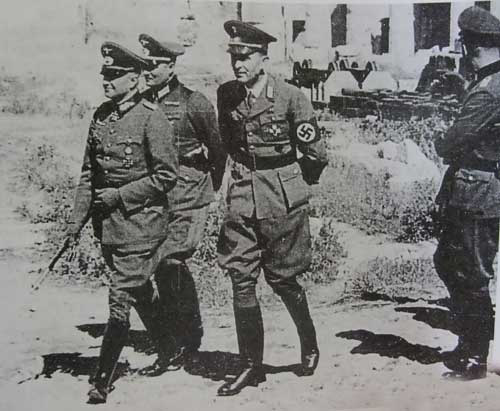 After a long battle in the northern part of Greece, which cost the lives of thousands. The German army entered Greece